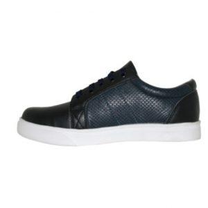 Zapatillas Hombre de Cuero negro/azul
